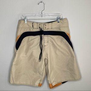 Men's O'Neill Tan Board Shorts Size M